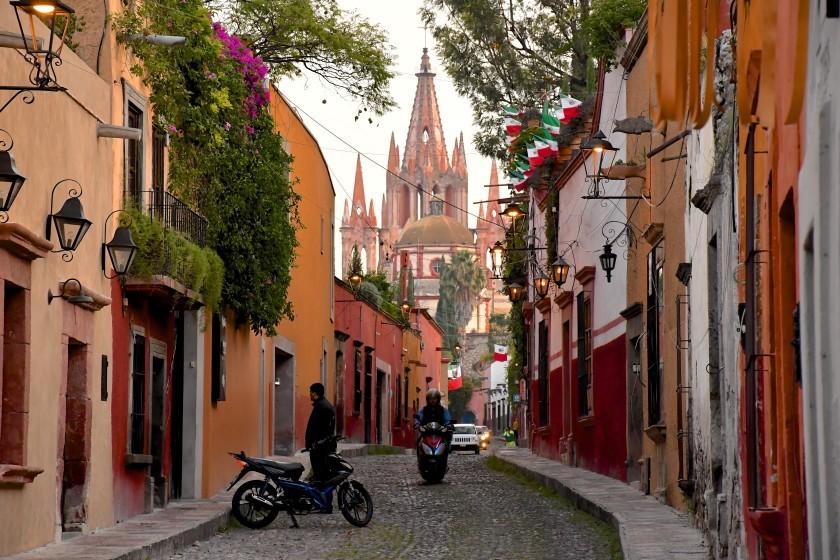 Calle Aldama, in the historic center of Mexico's San Miguel de Allende.