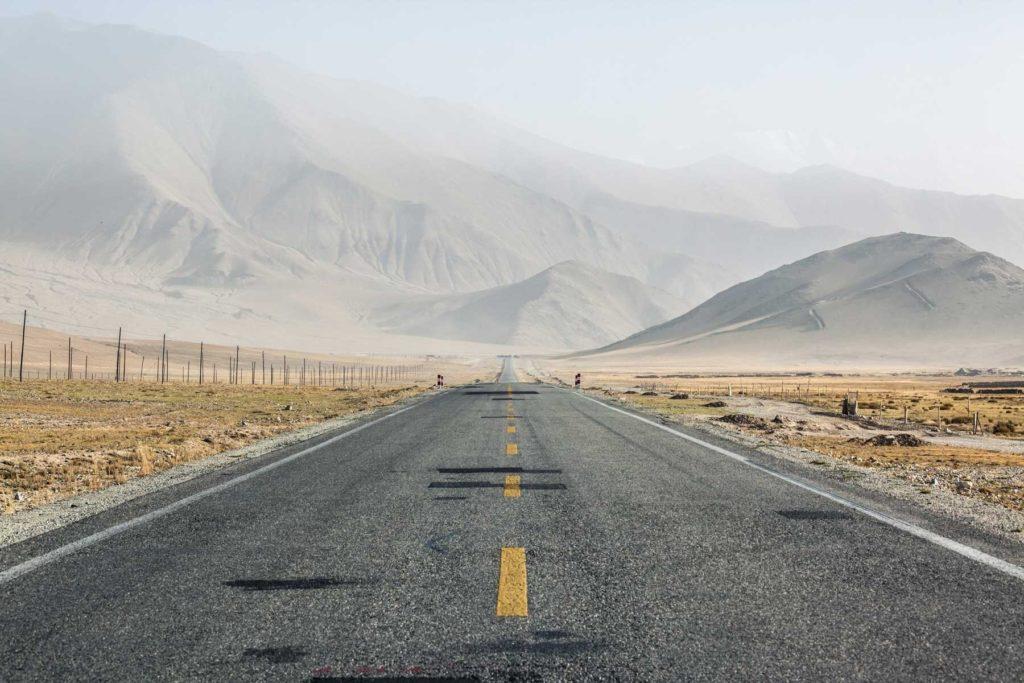 Karakorum highway in Xinjiang, China