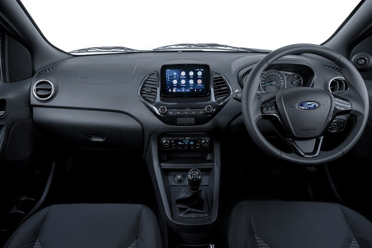The higher-specced Figo Freestyle Titanium model has a colour infotainment system with a reverse camera. Picture: SUPPLIED