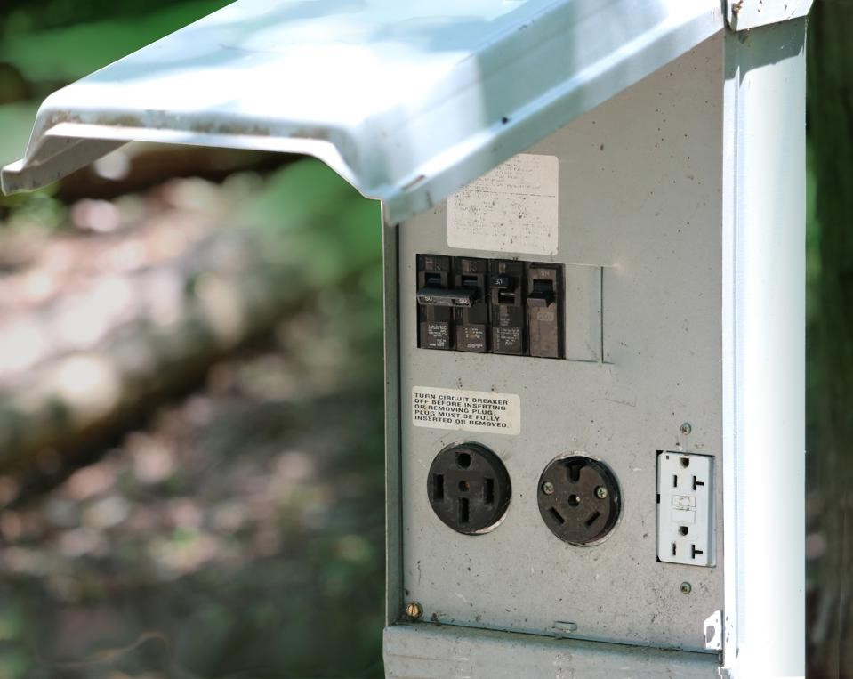 Outdoor Electrical receptical for RV, 50amp, 30amp, 110V