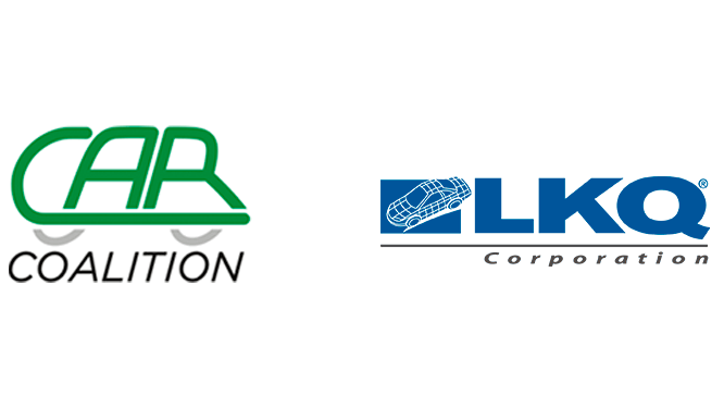 Logo images of CAR Coalition and LKQ Corporation